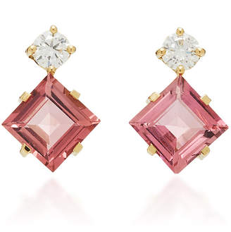 Yi Collection 18K Gold Tourmaline and Diamond Earrings