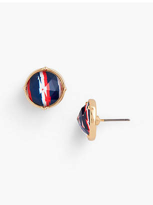 Talbots Abstract Stripes Stud Earrings