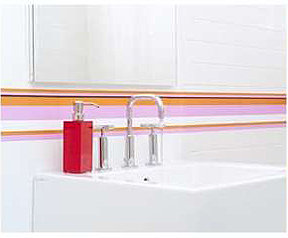 Wallcandy Pink Stripes Wall Decals