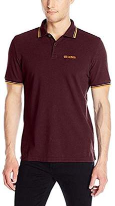 Ben Sherman Men's Solid Polo Shirt with Contrast Tipping