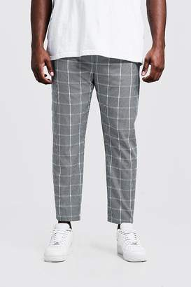 BoohoomanBoohooMAN Mens Blue Big & Tall Large Scale Ice Cream Check Jogger, Blue