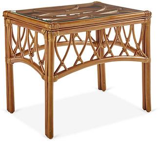 Antigua Rattan Side Table - Natural - South Sea Rattan