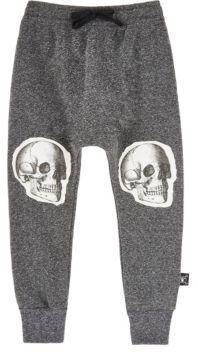 Nununu Men's Skull-Graphic Fleece Pants-DARK GREY $60 thestylecure.com