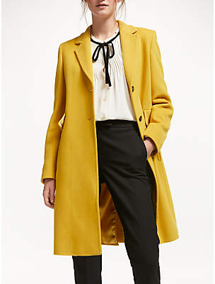 Marella Topstitch Tailored Coat, Yellow