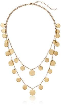 Panacea Women's Two Row Disk Strand Necklace