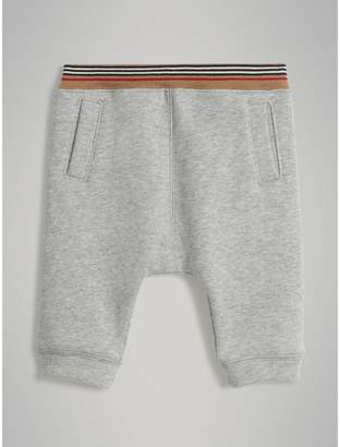 Burberry Childrens Heritage Stripe Cotton Jersey Sweatpants