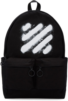 Off-White Black Diagonal Spray Backpack $610 thestylecure.com
