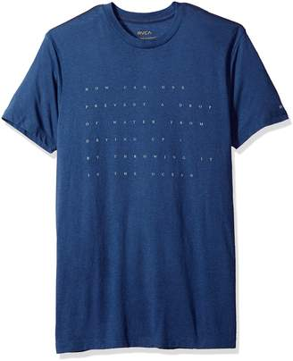 RVCA Men's Drop of Water Short Sleeve T-Shirt