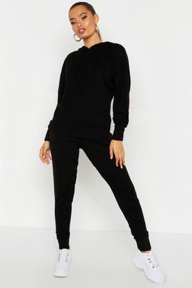 boohoo Hooded Knitted Lounge Set