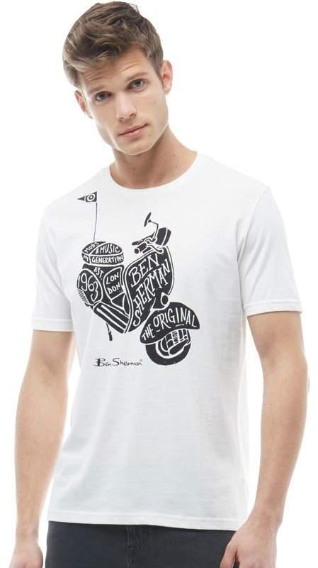 Herren Scooter T-Shirt Ecru