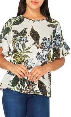 Dorothy Perkins Ivory Tropical Floral Print Top