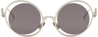 Gentle Monster Silver Chrishabana Edition The Hunt Sunglasses
