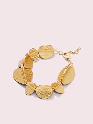 Kate Spade Metal Petal Bracelet, Worn Gold
