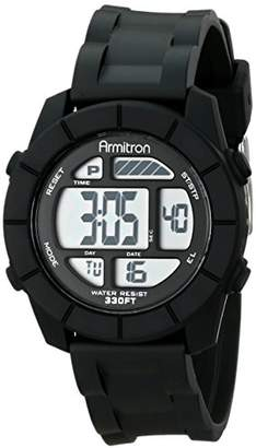 Armitron Sport Unisex 45/7043BLK Digital Watch With Resin Band