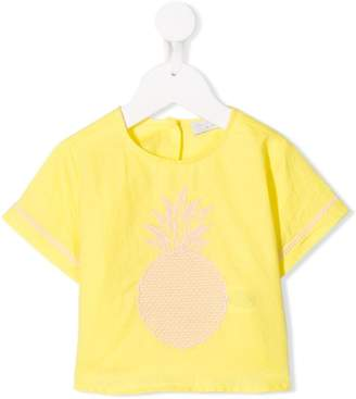 Stella McCartney pineapple embroidered T-shirt