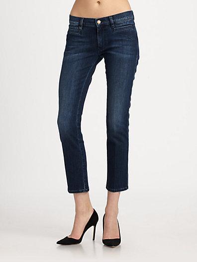 MiH Jeans Paris Mid-Rise Cropped Jeans