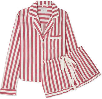 Rails Striped Voile Pajama Set - Brick
