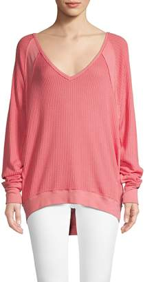 Free People Slouchy Thermal Top