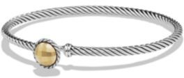 David Yurman Chatelaine Bracelet with 18K Gold Dome $325 thestylecure.com