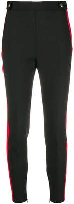 Alexander McQueen side-stripe fitted leggings