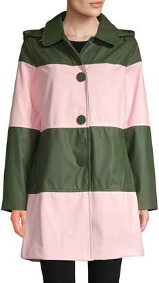 Kate Spade Wide Stripe Raincoat