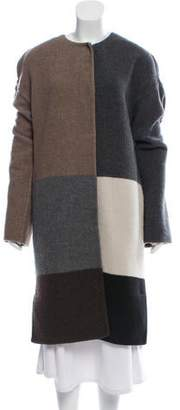 Calvin Klein Collection Wool Colorblock Coat