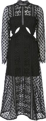 Self-Portrait Payne Cutout Lace Midi Dress $615 thestylecure.com