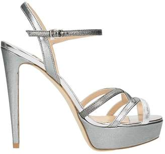 The Seller Laminated Silver Plateu Sandals