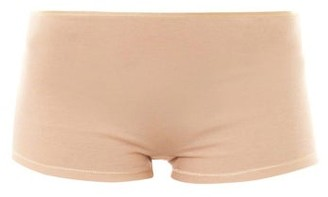Hanro - Seamless Cotton Boy Short Briefs - Womens - Nude