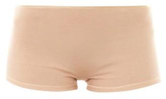 Hanro Seamless Cotton Boy Short Briefs - Womens - Nude