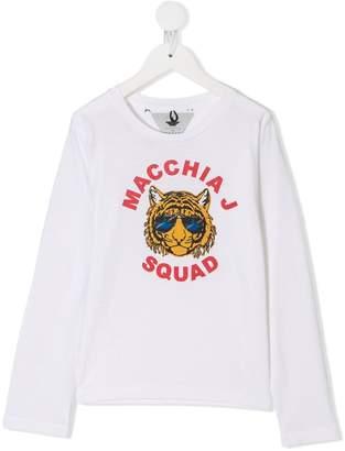 Macchia J Kids tiger print T-shirt