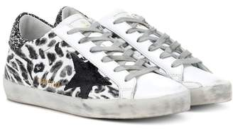 Golden Goose Superstar leopard leather sneakers