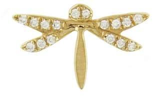Sydney Evan Diamond Dragonfly Single Stud Earring - Yellow Gold