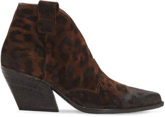 Elena Iachi 50mm Animalier Leather Cowboy Boots