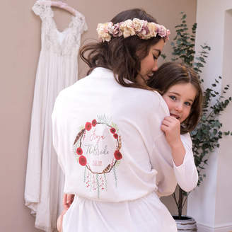 Sparks And Daughters Personalised Winter Wedding Women's Dressing Gown