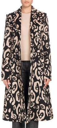 Altuzarra Leopard-Print Button-Down Wool Coat