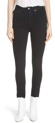 RE/DONE High Waist Stretch Ankle Jeans
