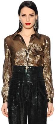 Ruffled & Lamè Shirt