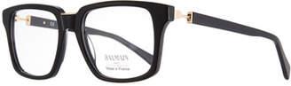 Balmain Opaque Acetate Square Optical Glasses