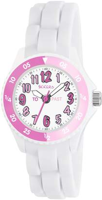 Tikkers Girls Analogue Quartz Watch with Silicone Strap TK0117