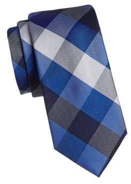 Izod Redhawk Plaid Silk Slim Tie