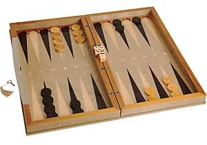 Barneys New York Backgammon Set-Silver