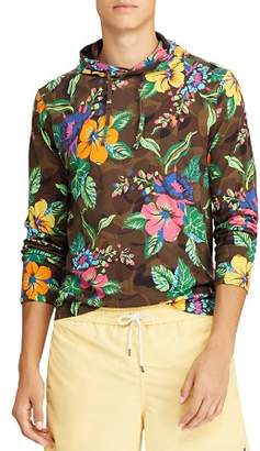 Polo Ralph Lauren Long-Sleeve Tropical & Camouflage-Print Hooded Tee