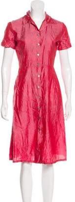 Dosa Short Sleeve A-Line Dress