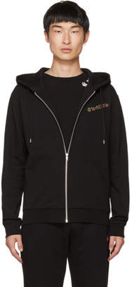 McQ Black Swallow Clean Zip Hoodie