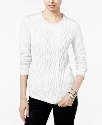 Tommy Hilfiger Lucy Cable-Knit Sweater, Only at Macy's $79.50 thestylecure.com