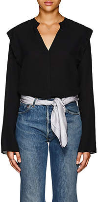 Derek Lam Women's Silk Crepe Blouse - Black