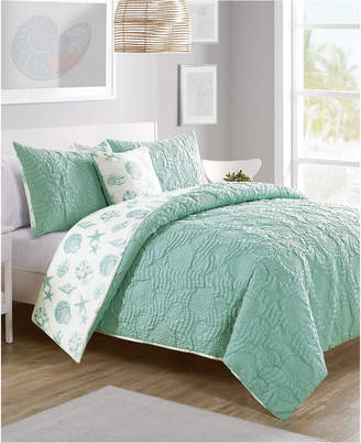 Vcny Home Beach Island 4-Pc. Full/Queen Reversible Duvet Cover Set Bedding