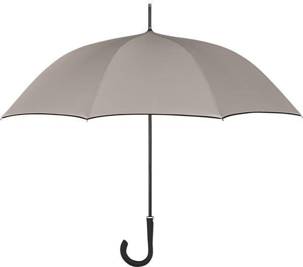 Crate & Barrel Taupe-Black Stick Umbrella