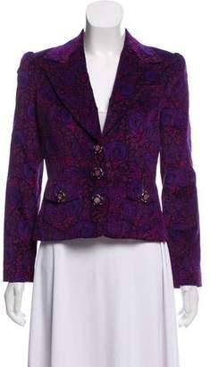 Dolce & Gabbana Velvet Printed Blazer